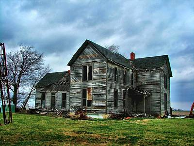 Abandoned Houses Photograph - Withstanding Another Spring Storm  by Julie Dant