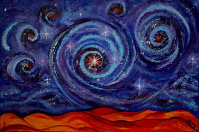 Megacosm Painting - Witness by Kathy Peltomaa Lewis