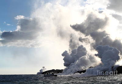 Photograph - Witnessing The Lava Flow by Theresa Ramos-DuVon