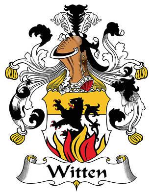Witten Coat Of Arms German Art Print by Heraldry