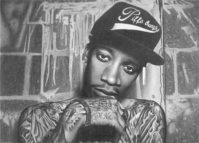Wiz Khalifa Drawing Drawing - Wiz Khalifa by George Sotirchos