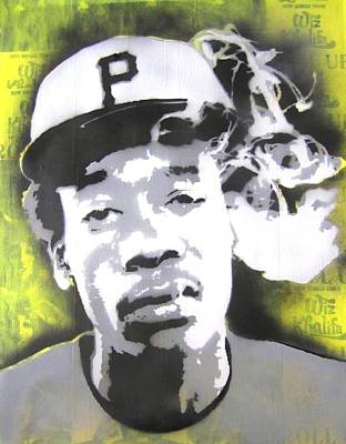 Wiz Khalifa Painting - Wiz Khalifa by John Little