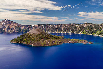 Photograph - Wizard Island At Crater Lake by Pierre Leclerc Photography