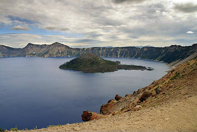 Volcano Photograph - Wizard Island - Crater Lake Oregon by Christine Till