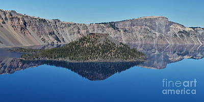 Photograph - Wizard Island Reflection by Ansel Price
