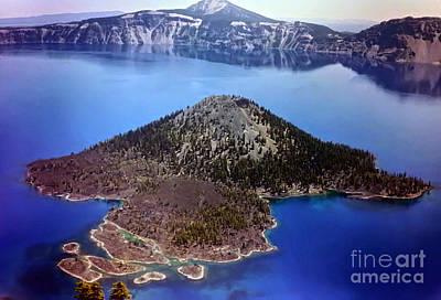 Photograph - Wizard Island by Steven Valkenberg