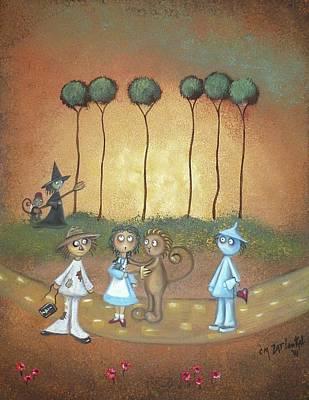 Wizard Of Oz Digital Art - Wizard Of Oz Art - Surrender Dorothy by Charlene Zatloukal