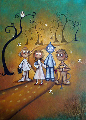 Toto Painting - Wizard Of Oz Art - Yellow Brick Road by Charlene Zatloukal