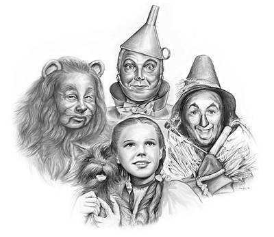 Animals Drawings - Wizard of Oz by Greg Joens