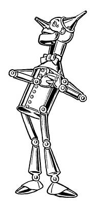 Drawing - Wizard Of Oz Tin Woodman by Granger