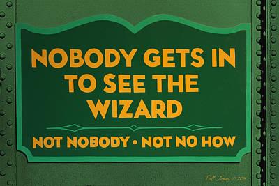 Wizard Sign Art Print by Bill Jonas