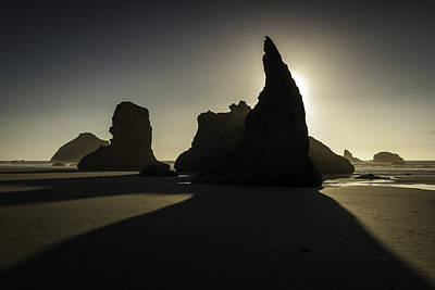 Wizards Hat Bandon Beach Art Print by Jean-Jacques Thebault