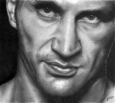 Boxer Drawing - Wladimir Klitschko. by Carl Moore