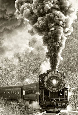 Photograph - Wmsr Steam Engine 734 by Jeannette Hunt