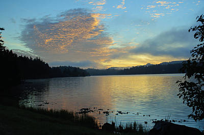 Photograph - Woahink Lake Sunrise by Tikvah's Hope