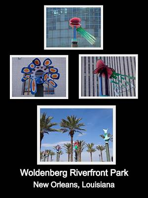 Photograph - Woldenberg Riverfront Park Sculptures One by Kathy K McClellan
