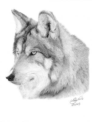 Wolf - 006 Art Print by Abbey Noelle