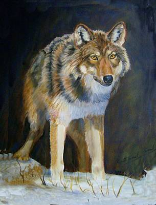 Painting - Wolf 4 by Ruth Seal