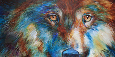 Painting - Wolf Abstract 3618 by Marcia Baldwin