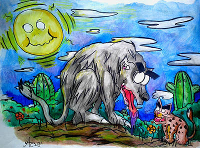 Wolf And Friend Art Print