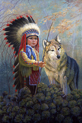 Wolf Boy Art Print by Gregory Perillo