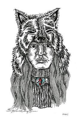 Wolf Clan Warrior Original by Louis McCollum