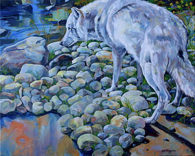 Yellowstone Painting - Wolf Creek by Derrick Higgins