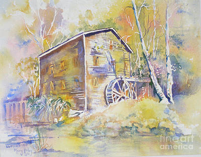 Wolf Creek Grist Mill Art Print by Mary Haley-Rocks
