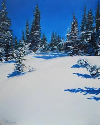 Frozen Forest Original by Celeste Drewien