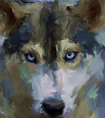 Digital Art - Wolf Eyes by Yury Malkov
