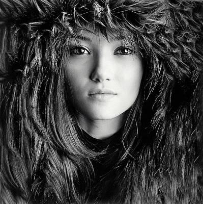 Wolf Photograph - Wolf Girl by Oren Hayman