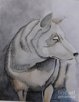 Wolf Art Print by Grant Mansel-James