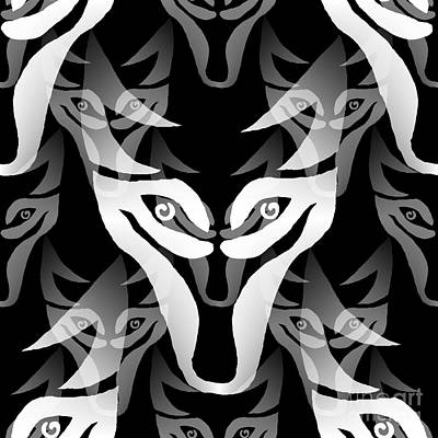 Digital Art - Wolf Mask by Barbara Moignard