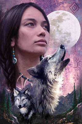 Wolf Montage Art Print by Garry Walton