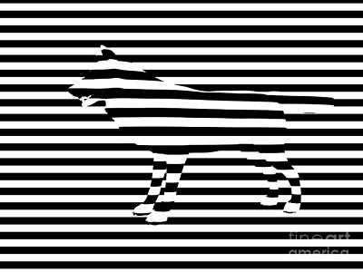 Geometric Animal Digital Art - Wolf Optical Illusion by Pixel  Chimp