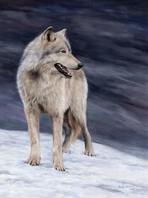 Wolf Painting Original by Rachel Stribbling