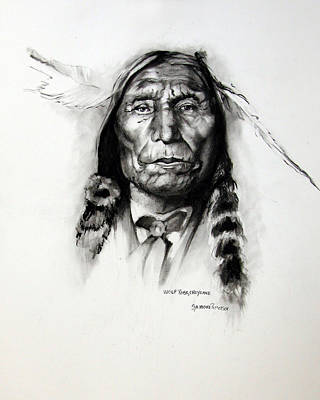 Drawing - Wolf Robe - Cheyenne by Synnove Pettersen