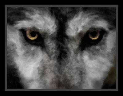 Wild Dog Digital Art - Wolf Stare by Ernie Echols