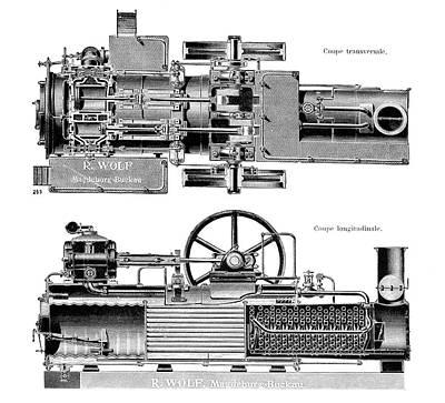 Wolf Steam Engine Art Print