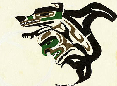 Wolf To Orca Art Print by Micah McCarty Makah tribe