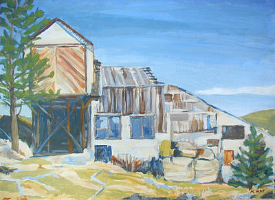 Nederland Painting - Wolf Tongue Mine Mill by Al Hart