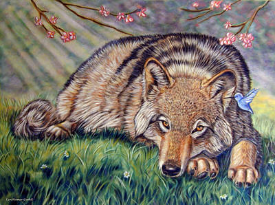 Cherry Blossoms Painting - Wolf Whisperer by Lyn Cook