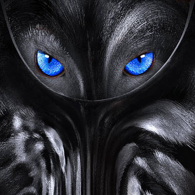 Photograph - Wolf With Blue Eyes Abstract by Radoslav Nedelchev