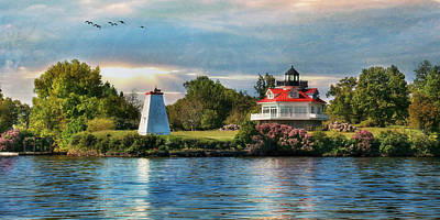 Digital Art - Wolfe Island Lighthouse by Lori Deiter