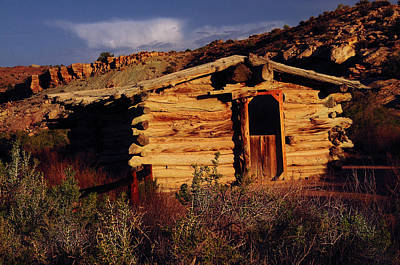 Log Cabins Photograph - Wolfe Ranch Cabin, Arches National by Michel Hersen