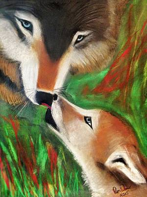 Painting - Wolfen Worship by Renee Michelle Wenker