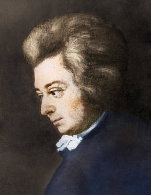 Painting - Wolfgang Amadeus Mozart by Science Source