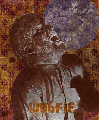 Wolfman Photograph - Wolfman Wolfie by MMG Archives