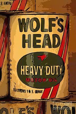 Wolf's Head Oil Can Art Print