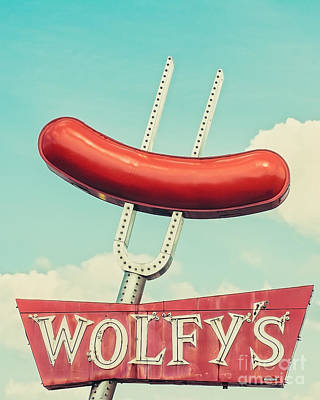 Hot Dogs Photograph - Wolfy's In Chicago by Emily Kay
